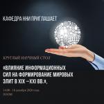 «Влияние информационных сил на формирование мировых элит (XIX –XXI вв.)»